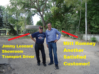 Showroom Transport Mitt Romney, Another Satisfied Shipping Customer